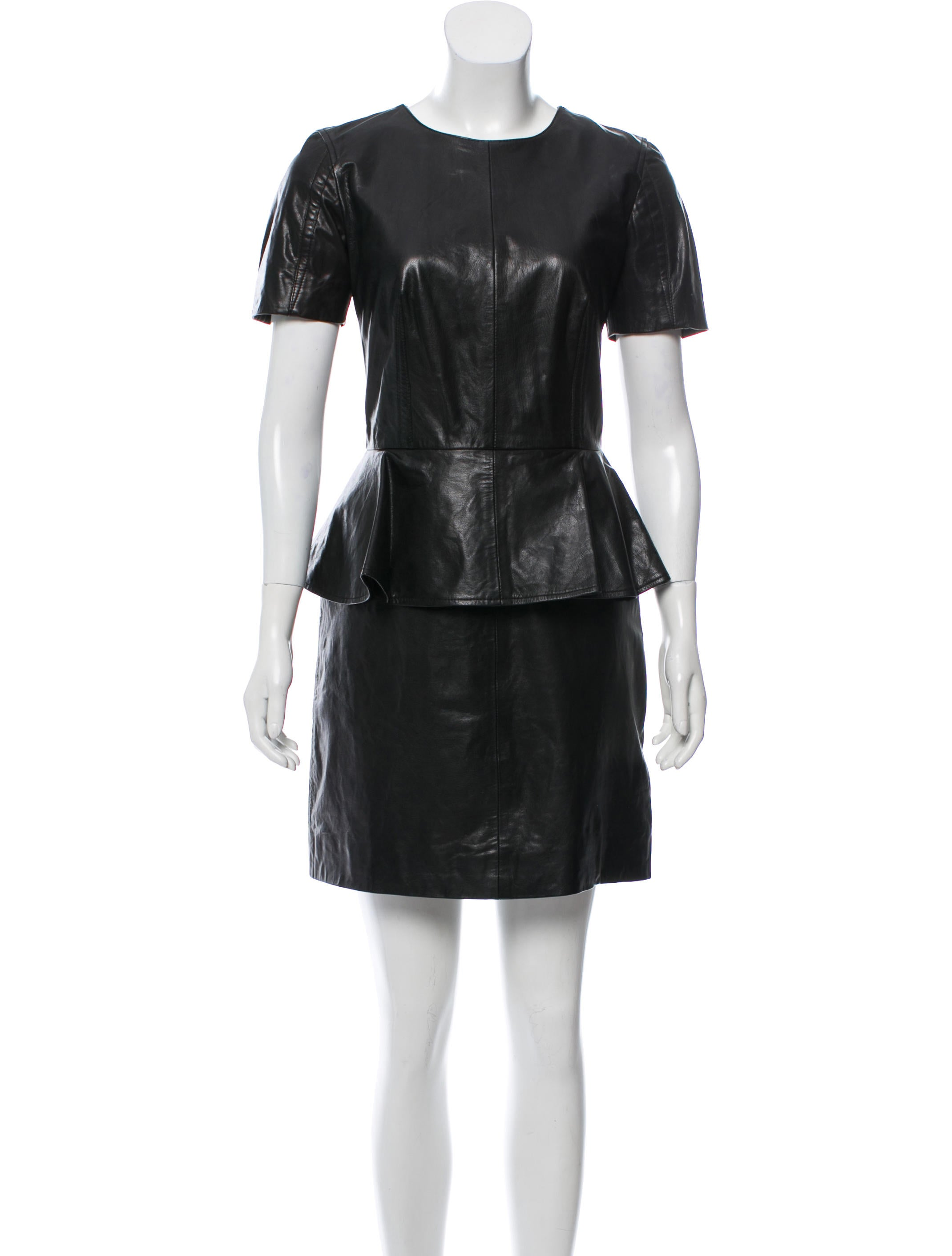 cb8585b8df11d McQ Alexander McQueen Leather Mini Dress - Clothing - WMQ26998 | The ...