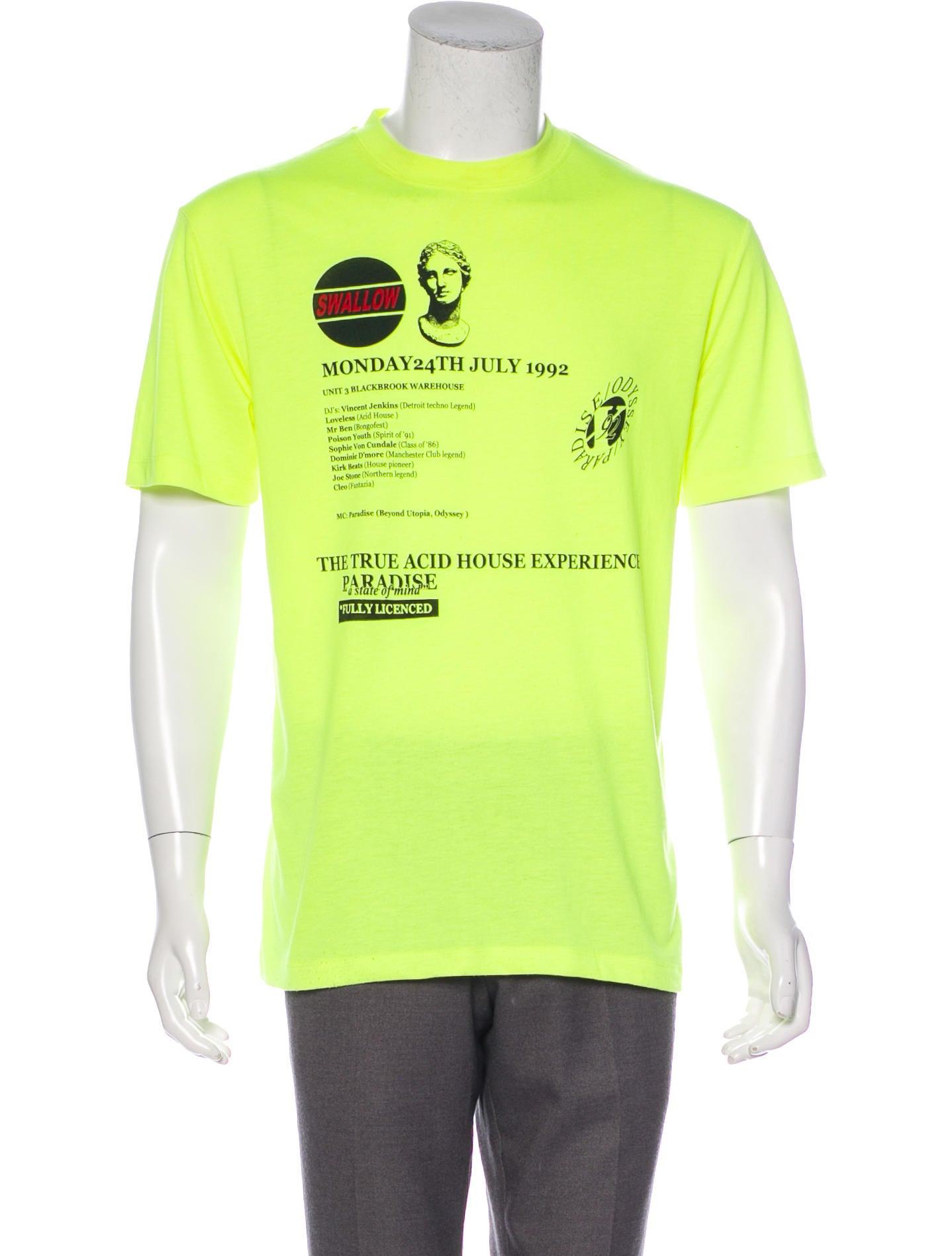 Men/'s Vintage Tee Shirt Graphic T shirt Choose UTOPIA Pale Yellow