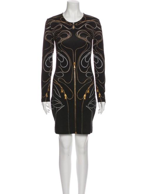 McQ Alexander McQueen Crew Neck Mini Dress Black