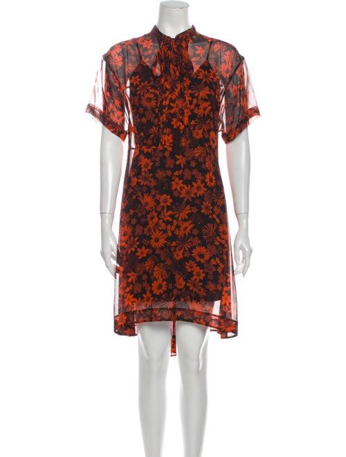 McQ Alexander McQueen Silk Knee-Length Dress Orang