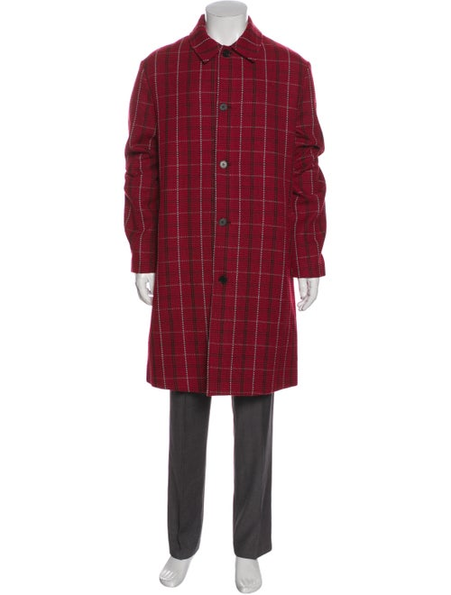 McQ Alexander McQueen 2019 Plaid Print Overcoat w/