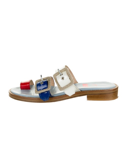 MR by Man Repeller Patent Leather Printed Sandals