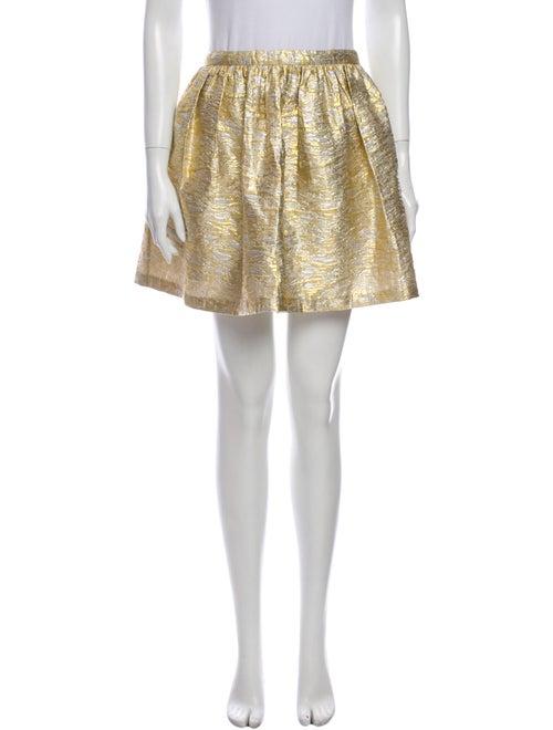Man Repeller x PJK Mini Skirt w/ Tags Gold