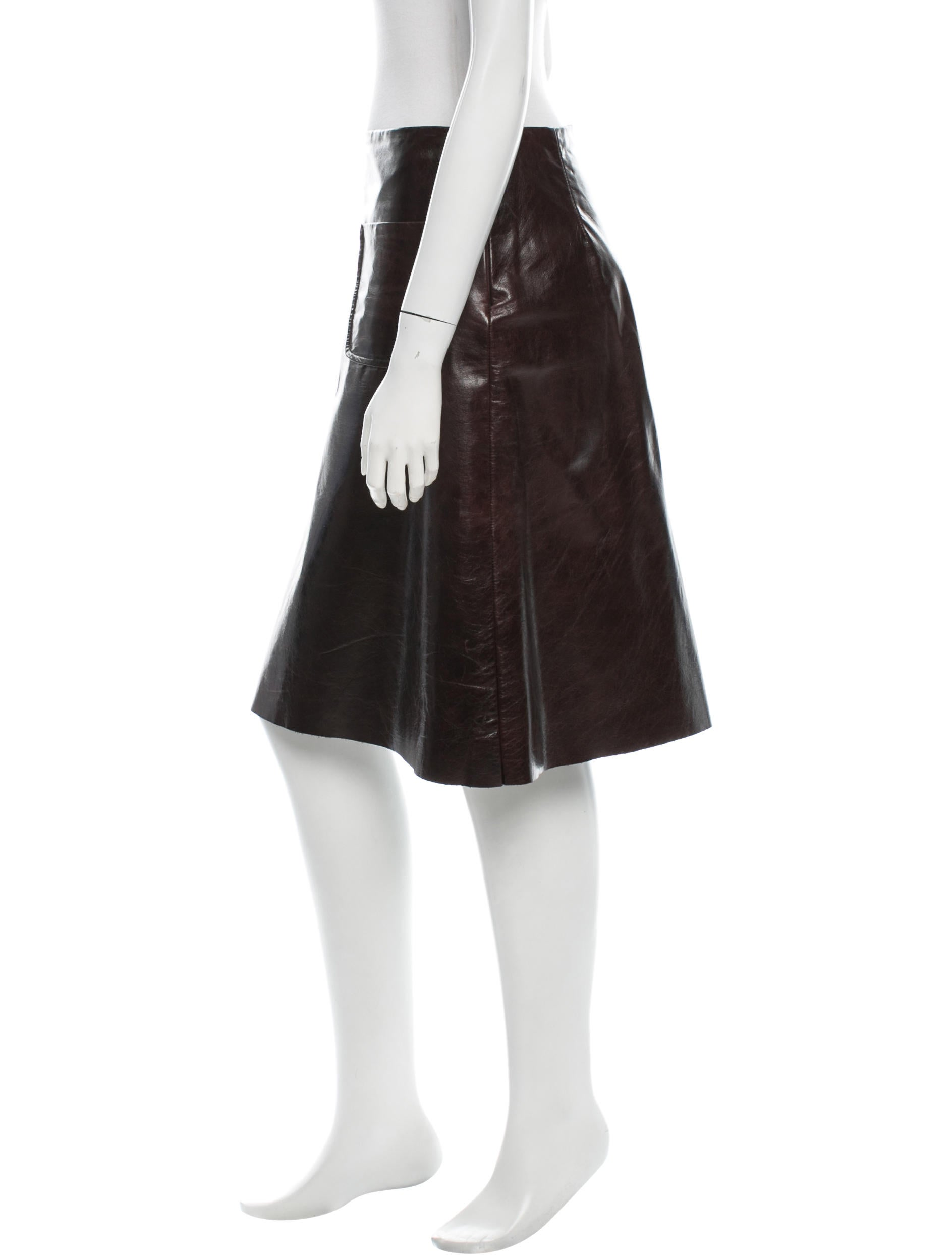 leather flare skirt clothing wms20706 the realreal