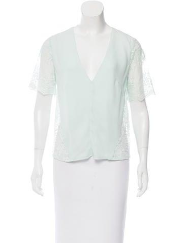 Mason Silk Short Sleeve Top None