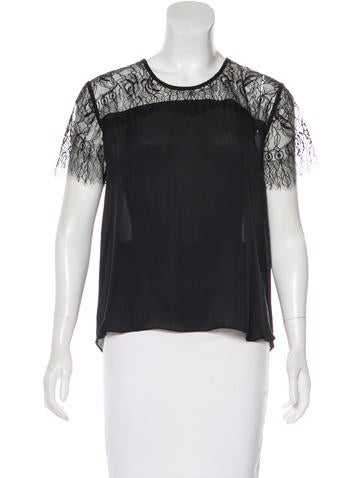 Mason Silk Lace Top None
