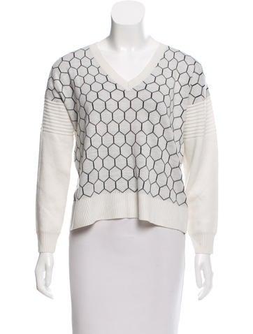 Mason Jacquard V-Neckline Sweater None