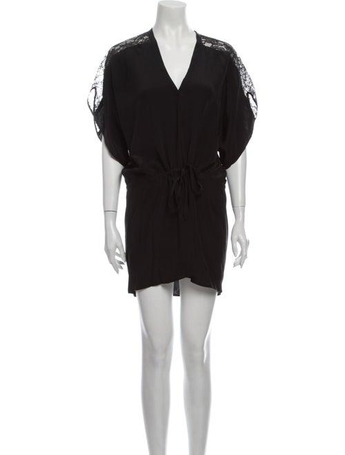 Mason Silk Mini Dress Black