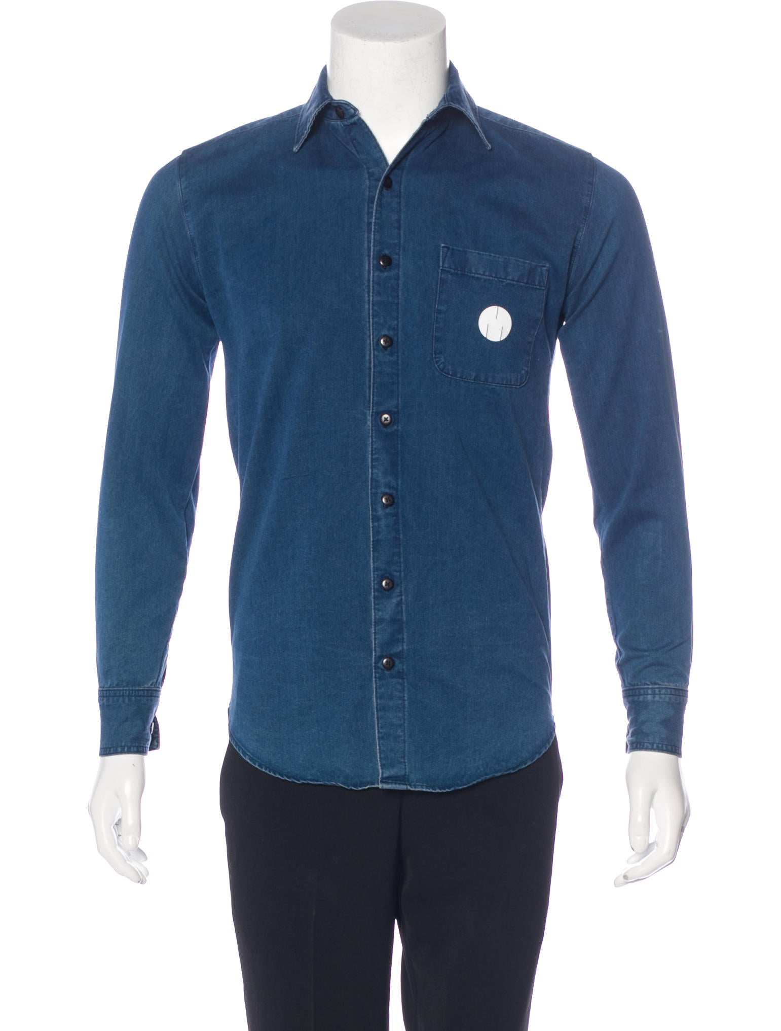 msftsrep chambray button-up shirt - clothing