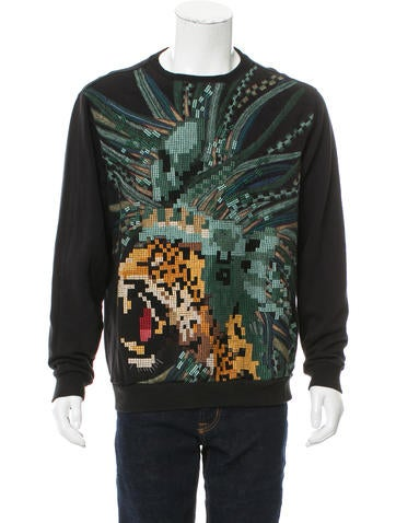 Maharishi Embroidered Crew Neck Sweatshirt None