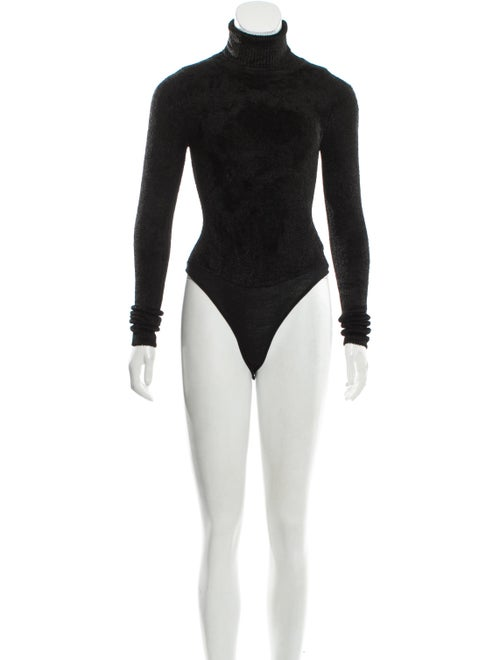 Ms Min Turtleneck Long Sleeve Bodysuit Black