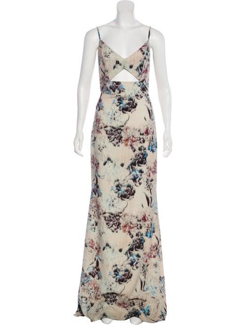Michelle Mason Printed Maxi Dress
