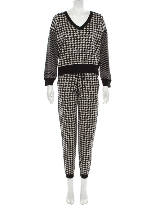 Michelle Mason Houndstooth Print Pant Set w/ Tags