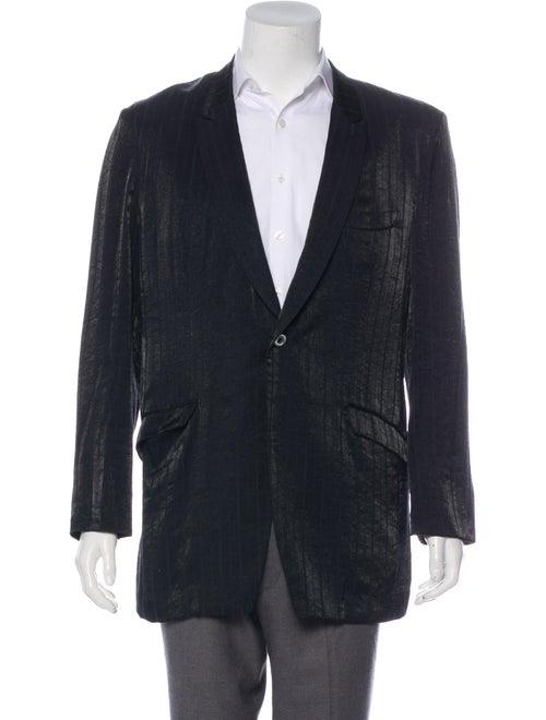 Matsuda Striped Satin Blazer black