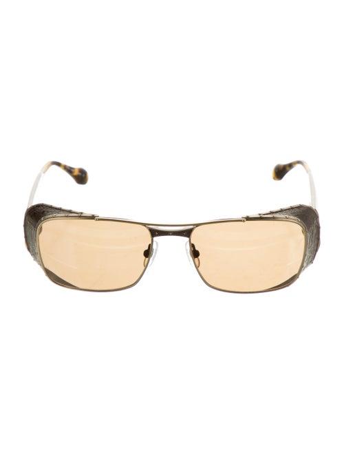 Matsuda Tinted Square Sunglasses gold
