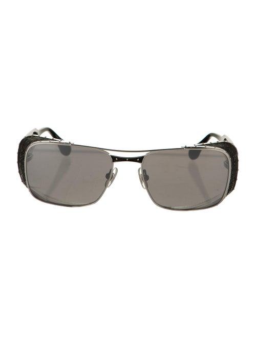Matsuda Square Tinted Sunglasses Silver