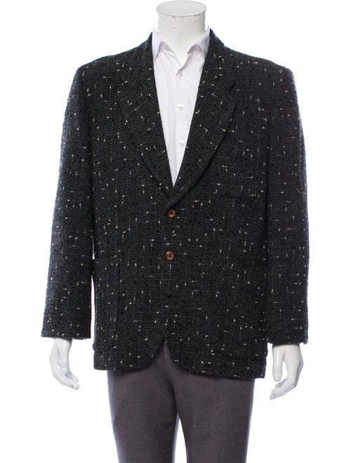 Matsuda Fleck Wool Blazer black