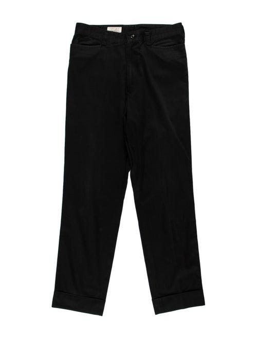 Matsuda Woven Flat Front Pants black