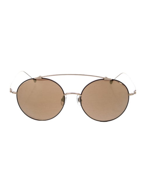 Matsuda Metal Aviator Sunglasses Gold