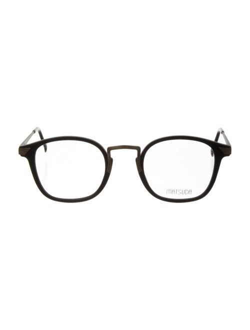 Matsuda Square Eyeglasses Black