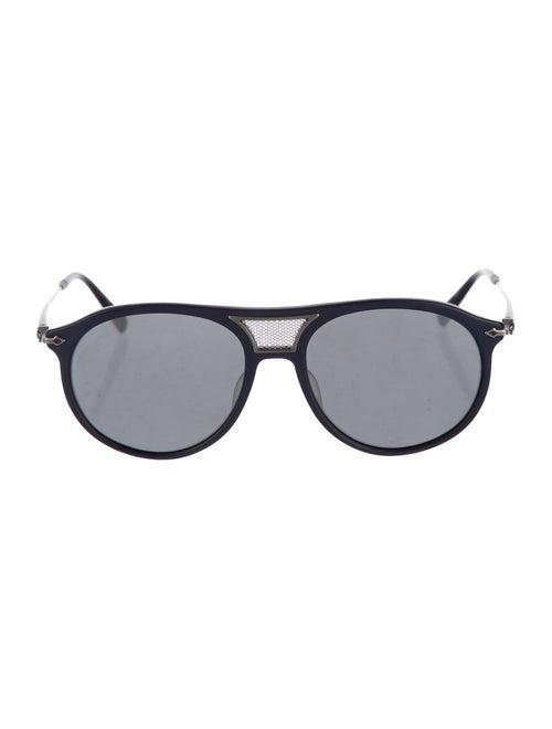 Matsuda Round Aviator Sunglasses navy