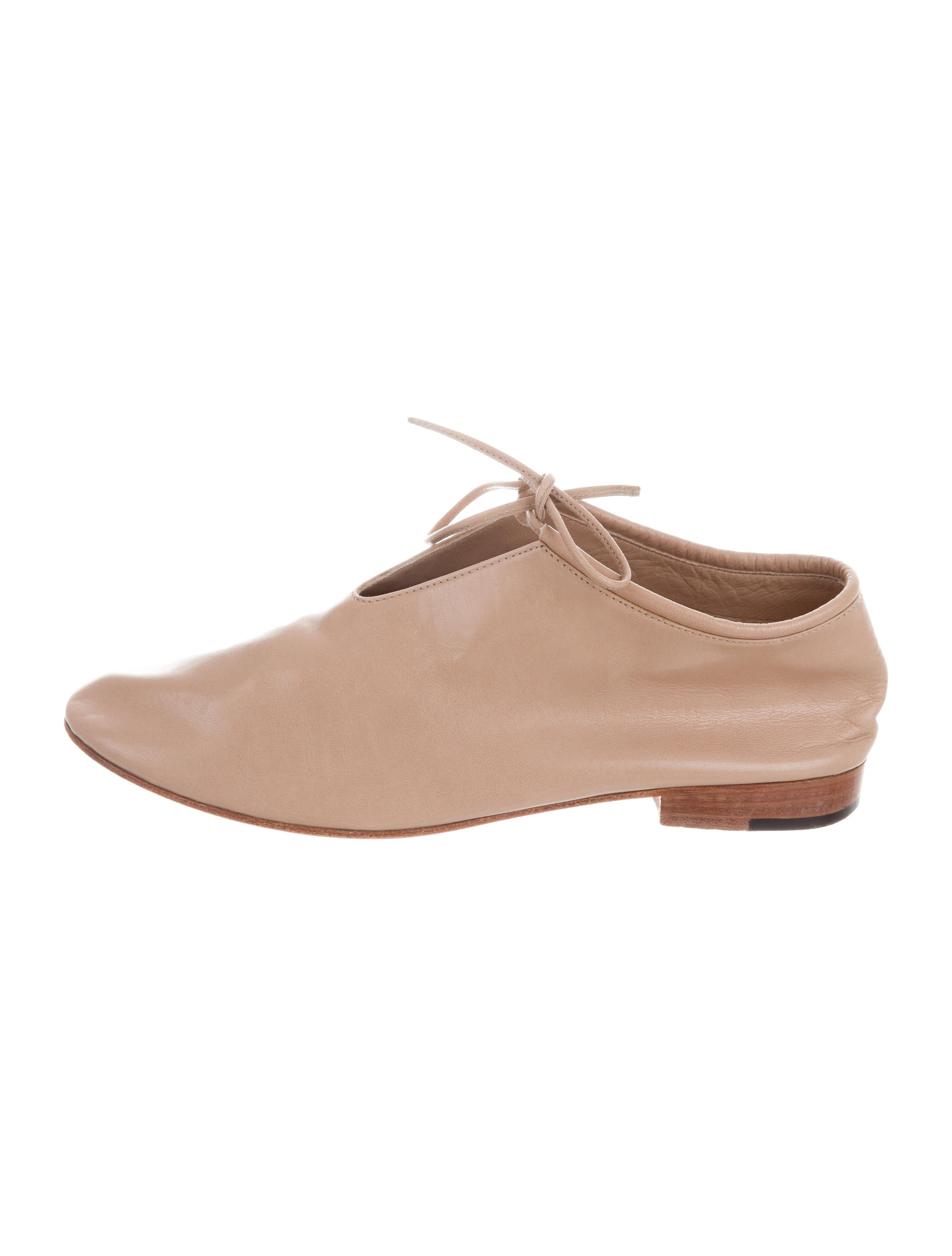 Martiniano Leather Round-Tie Flats discount official qm3WH