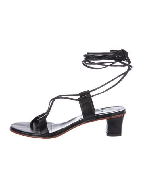 Martiniano Leather Gladiator Sandals Black
