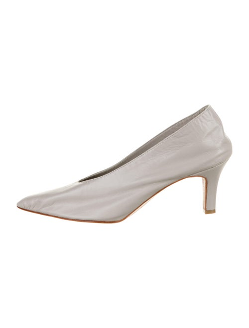 Martiniano Party Leather Pumps Grey - image 1