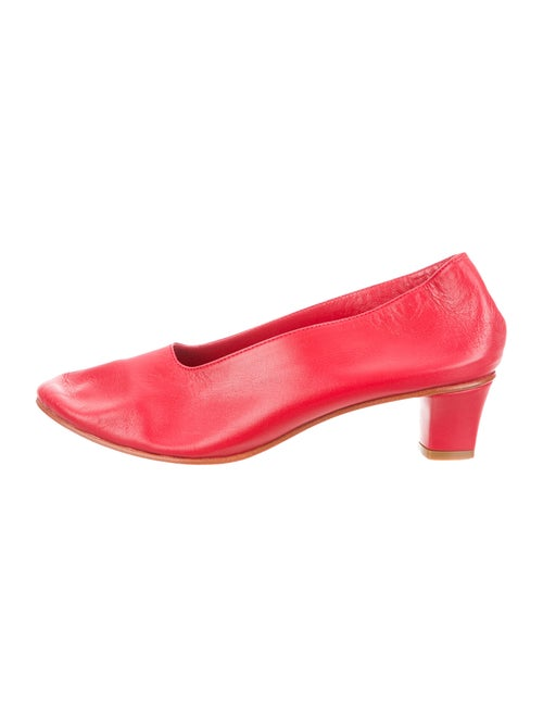 Martiniano Leather Pumps Red