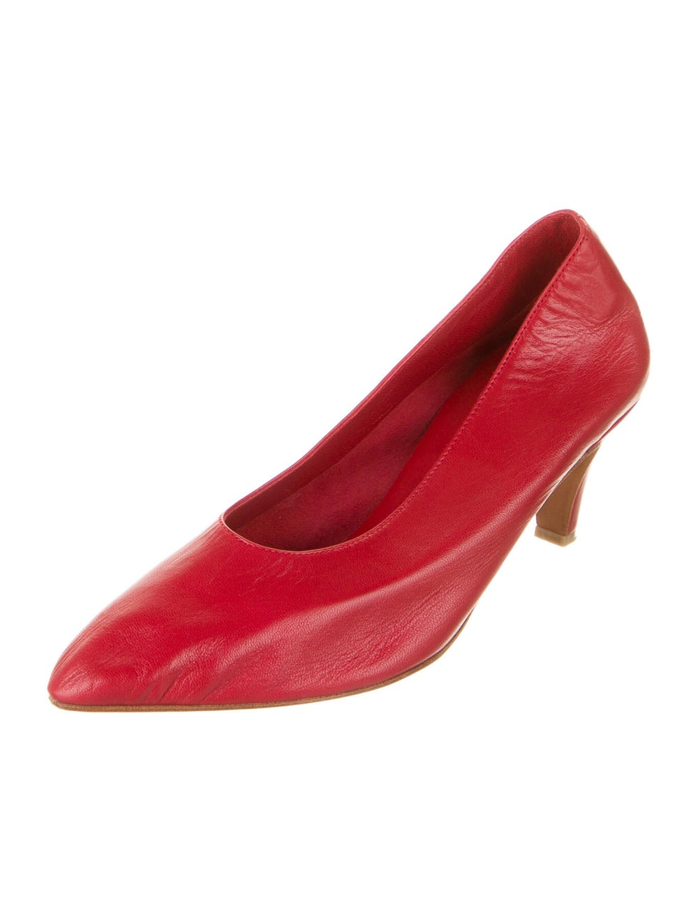 Martiniano Party Leather Pumps Red - image 2