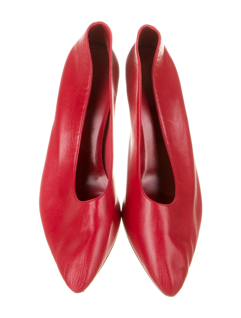 Martiniano Party Leather Pumps Red - image 3