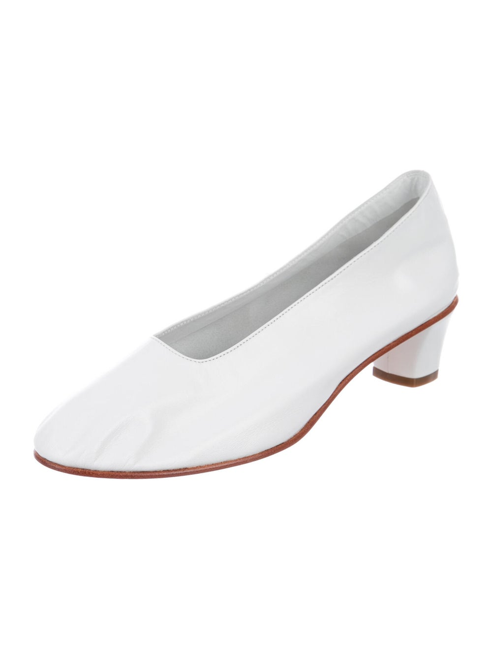Martiniano Leather Pumps White - image 2