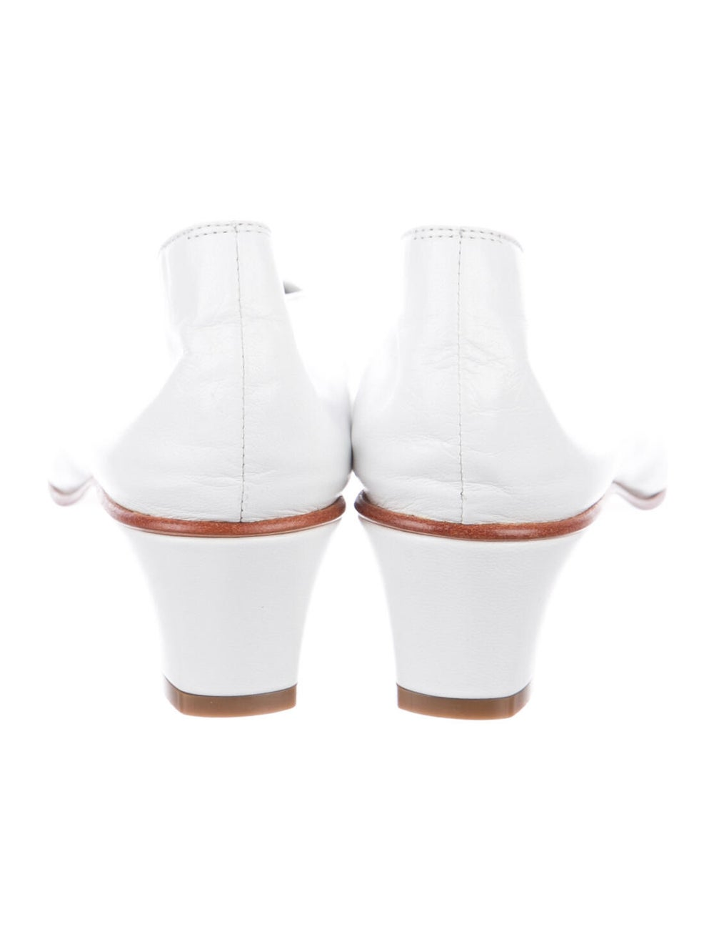 Martiniano Leather Pumps White - image 4