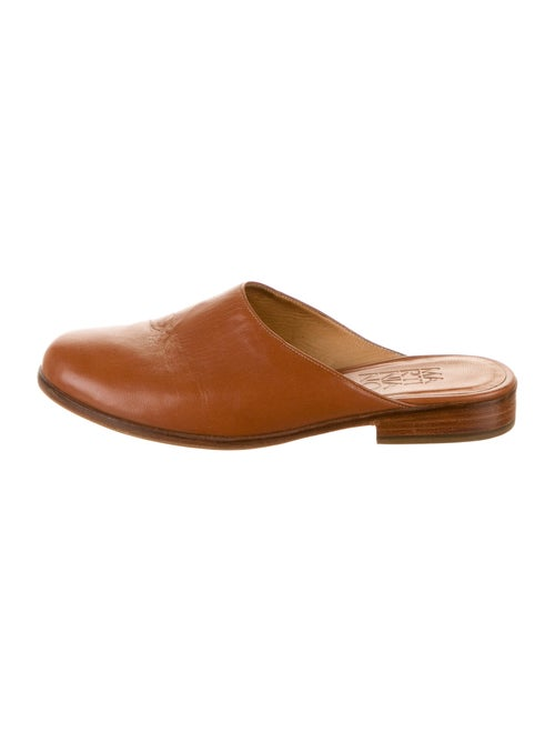 Martiniano Leather Mules Brown