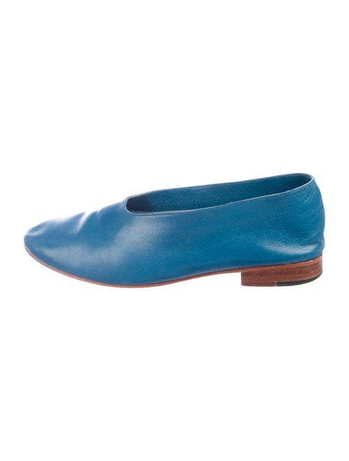 Martiniano Leather Flats Blue