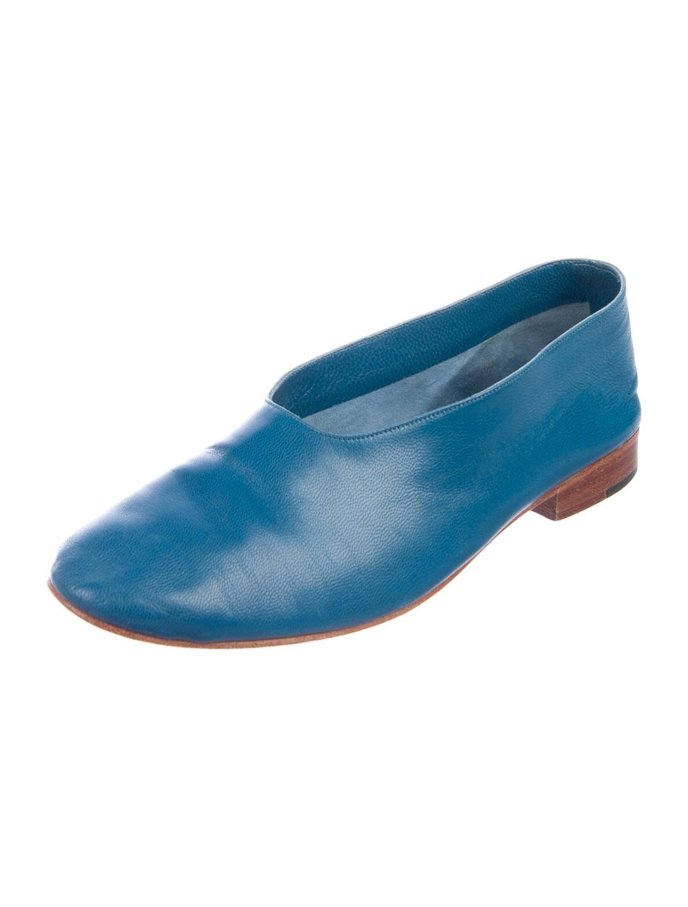 Martiniano Leather Flats Blue - image 2