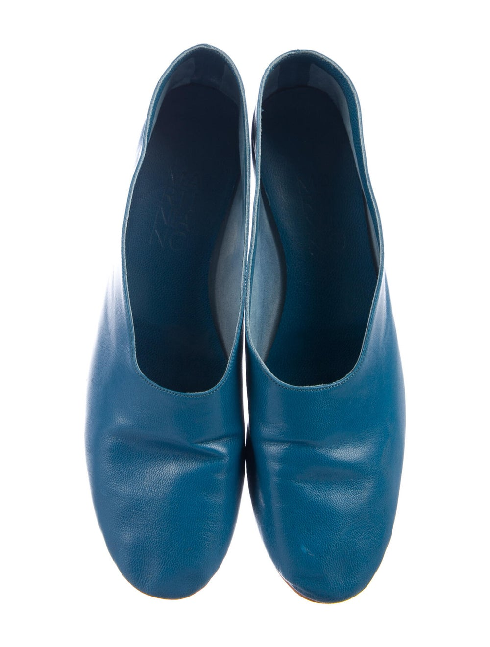 Martiniano Leather Flats Blue - image 3