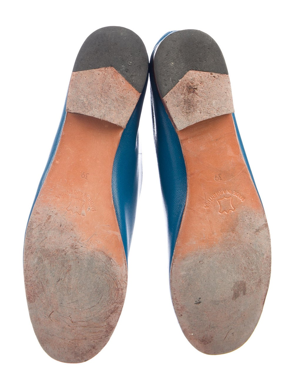 Martiniano Leather Flats Blue - image 5