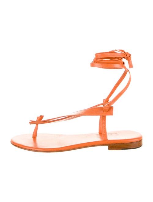 Martiniano Bibiana Goat Leather Gladiator Sandals… - image 1