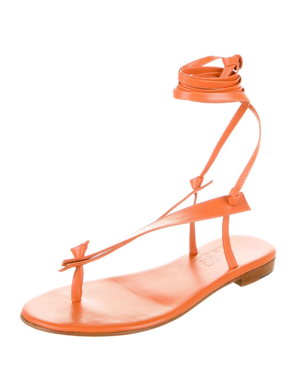 Martiniano Bibiana Goat Leather Gladiator Sandals… - image 2