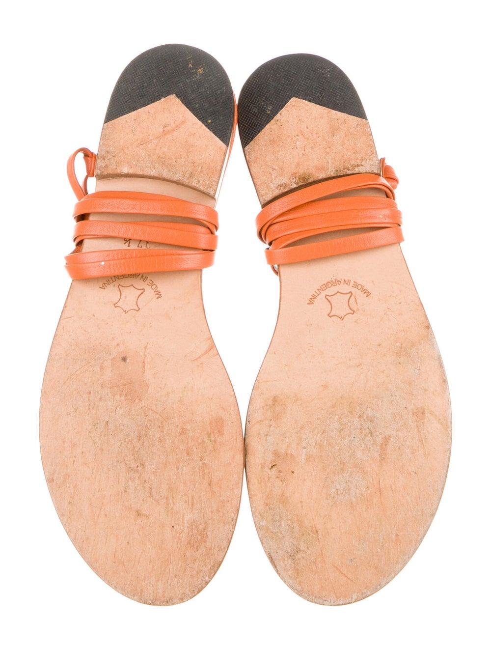 Martiniano Bibiana Goat Leather Gladiator Sandals… - image 5