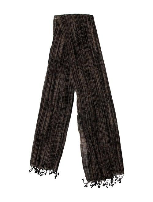 Matta Silk-Wool Striped Scarf Brown