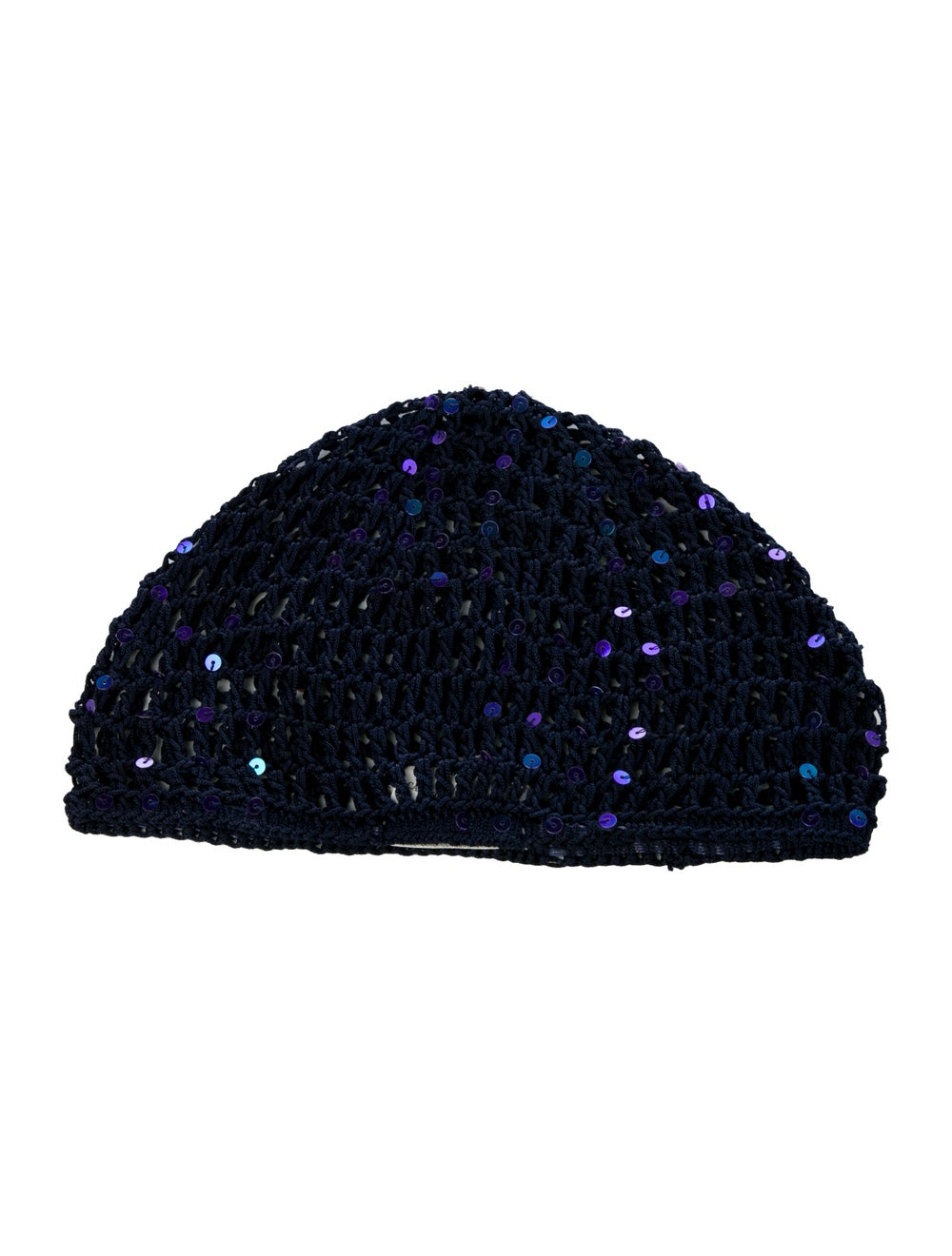 Miguelina Sequins Knit Beanie Navy - image 2