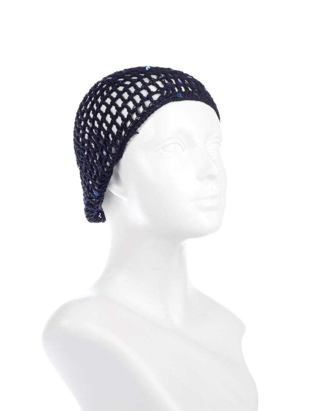 Miguelina Sequins Knit Beanie Navy - image 3
