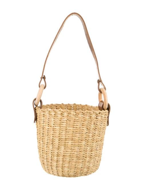 Muun Seau Straw Bucket Bag