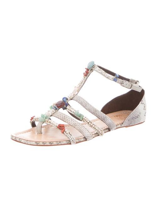 2a74fd931d351 Maliparmi Beaded Snakeskin Sandals w  Tags - Shoes - WMV20008