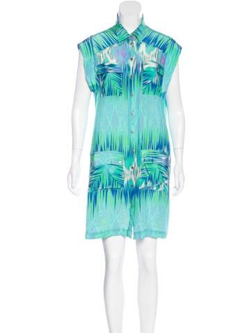 Matthew Williamson Escape Abstract Print Shift Dress