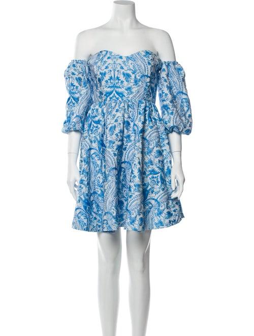 Mestiza New York Floral Print Mini Dress Blue
