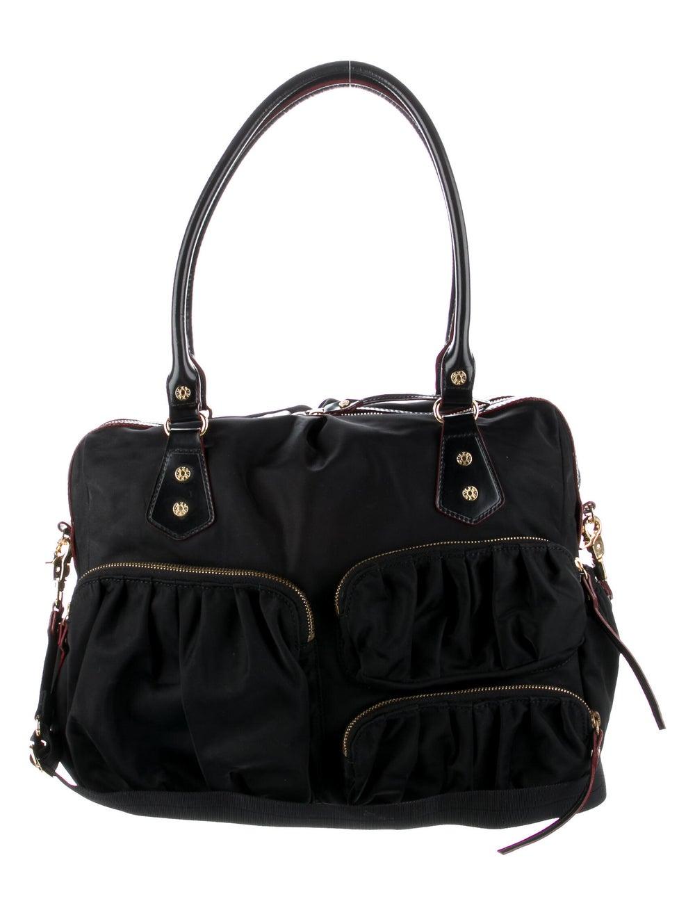 MZ Wallace Leather-Trimmed Nylon Shoulder Bag Bla… - image 1