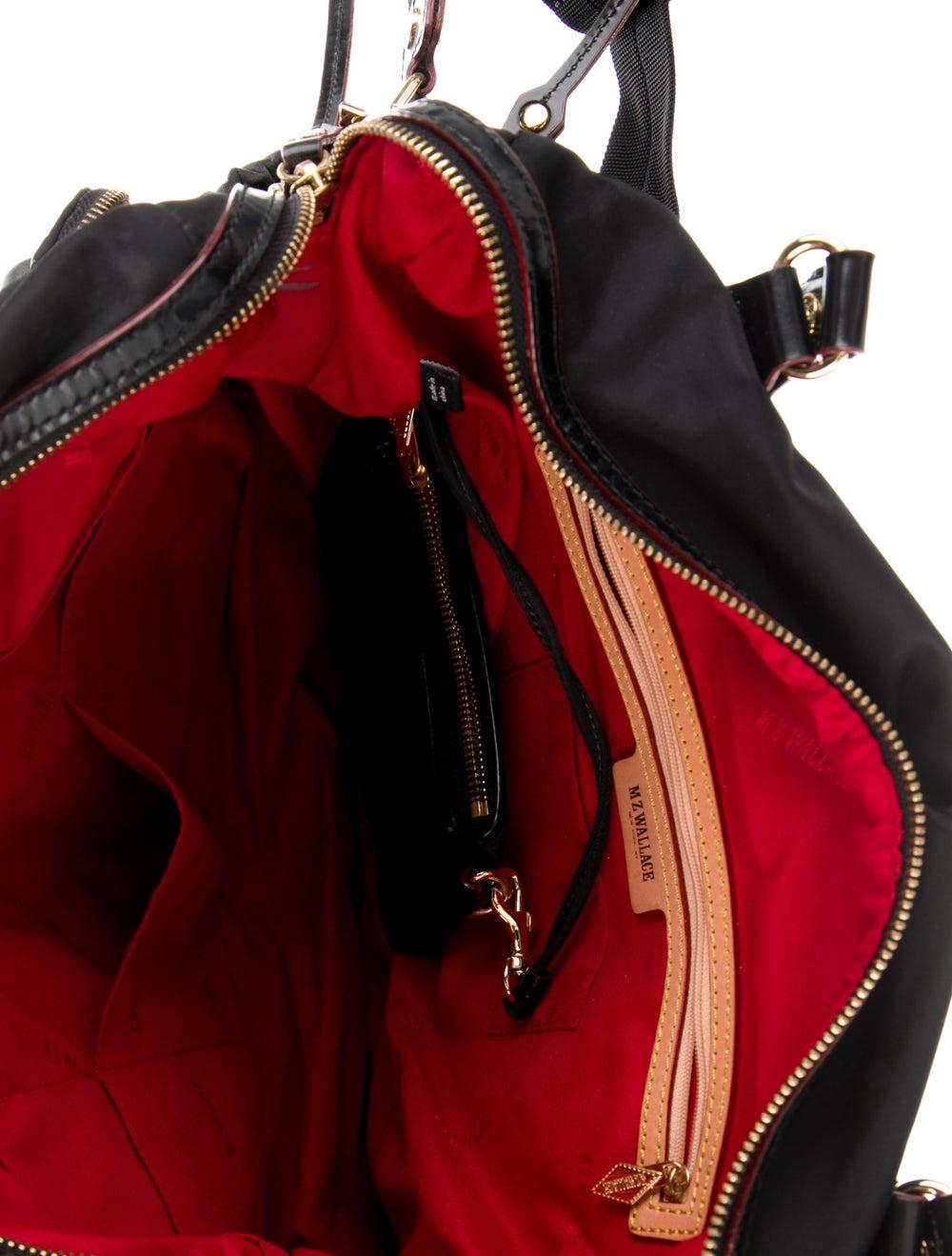 MZ Wallace Leather-Trimmed Nylon Shoulder Bag Bla… - image 5